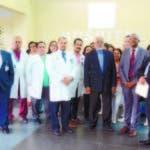Integrantes del Colegio Médico Dominicano durante rueda de prensa.