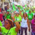La marcha recorrió varias calles.