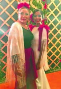 La novia, Candy Sibelis Medina, e Iris Guaba, amiga cercana a la