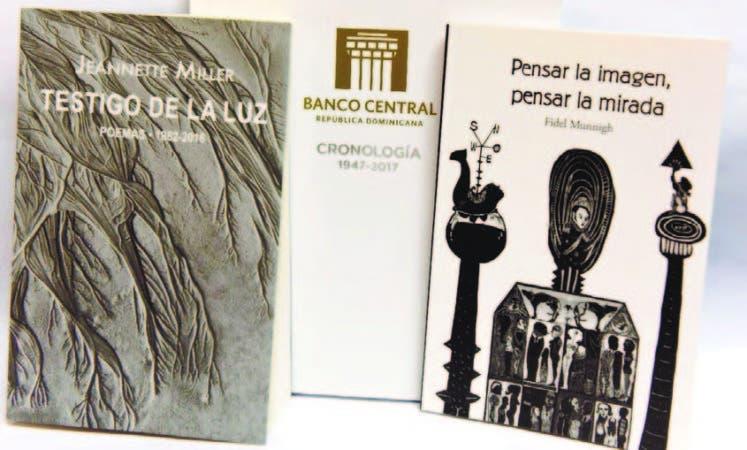 Las portadas de las tres nuevas obras publicadas por el Banco Central.