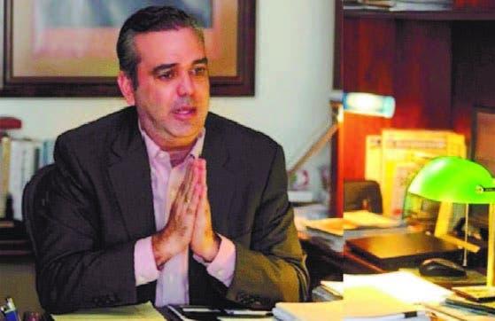 Luis Abinader, dirigente político de oposición, propone pacto