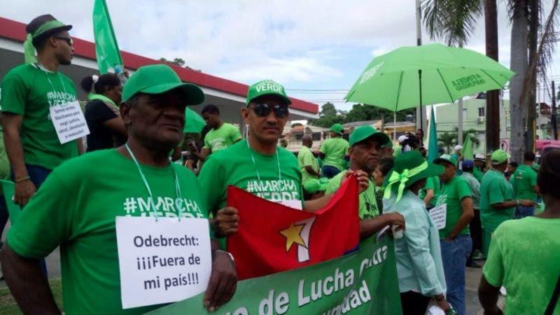 El colectivo Marcha Verde en su jornada en San Crist+óbal.