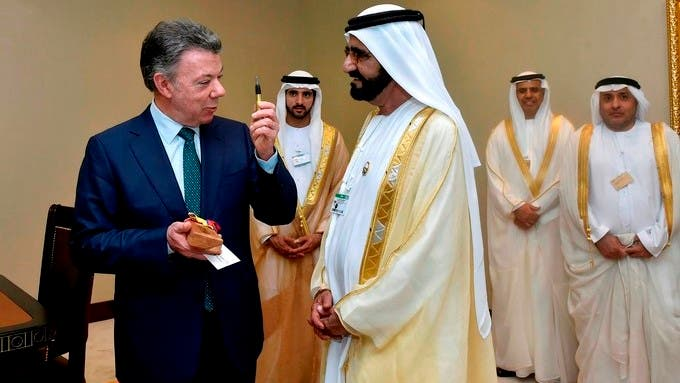Colombian President, Juan Manuel Santos, visits UAE