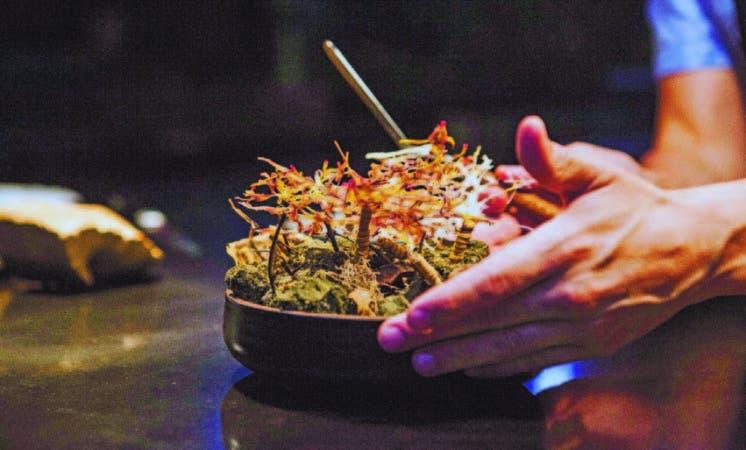 Uno de los platos que prepara el cocinero peruano Virgilio Martinez en su restaurante Central.