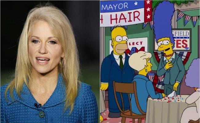 """""""Los Simpson"""" comparan asesora de Trump con el propagandista nazi Goebbels"""