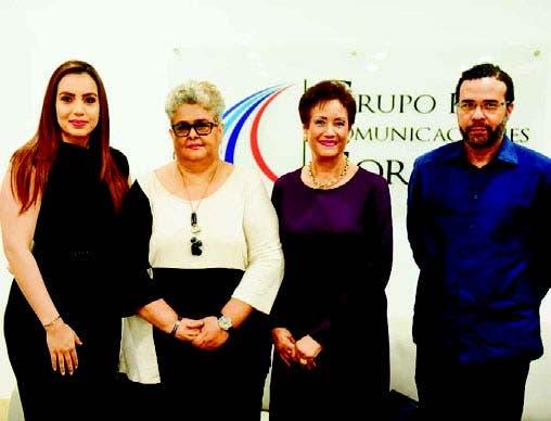 Amarfi Peralta, Gina Gallardo, Florinda Rojas y Marcos Morales