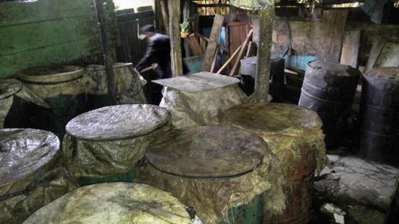 Lugar de fabricación del clerén. Foto archivo.
