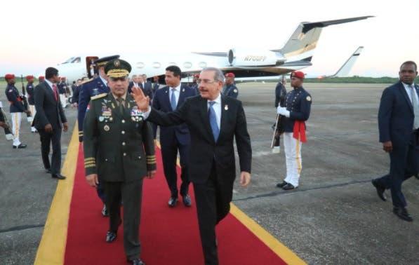 Presidente Medina a su llegada al país/@PresidenciaRD