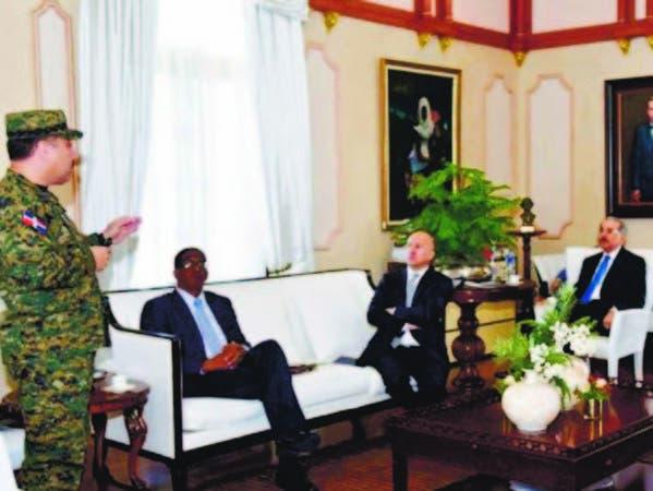 El encuentro se realizó en el salón Privado, del despacho del presidente Medina en el Palacio Nacional
