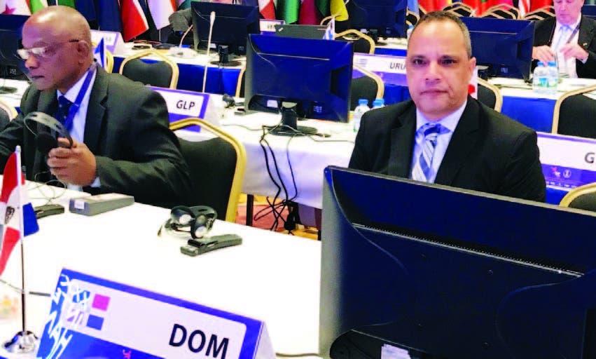El presidente de Federación de Balonmano, Miguel Rivera, en una de las sesiones del Congreso Mundial
