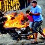 Este viernes continuaban las protestas en las calles de Honduras