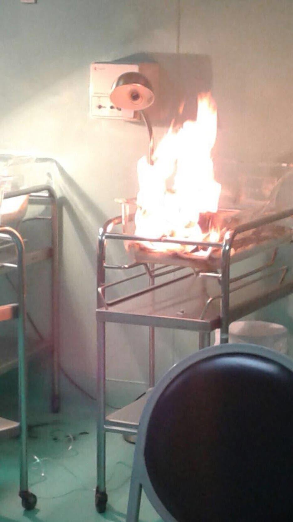 Fuego en Hospital de la Mujer Hoy/Fuente Externa 12/12/17