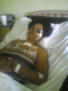 Mujer herida