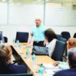 Reunión gerentes de Infotep y directivos de Asonameca.