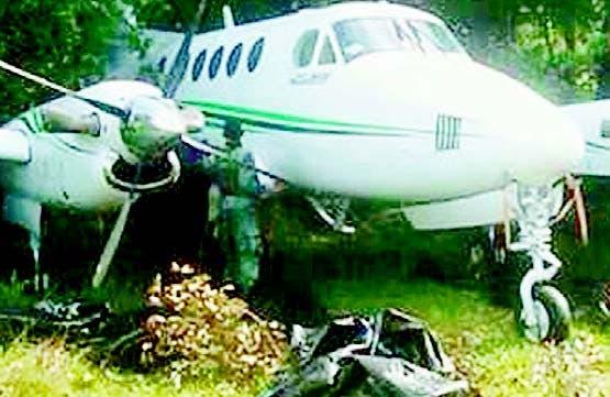 Una de las avionetas que salieron del país hacia Venezuela