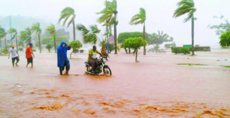 Una de las inundaciones provocada por uno de los últimos huracanes que afectó al país en Higüey