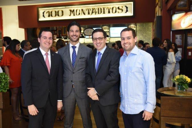 Carlos Santelises , Leonardo  del monte, Héctor Morillo y Miguel Dueñas.