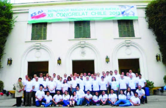 Algunos participantes del Congrelat XII, en Santiago de Chile