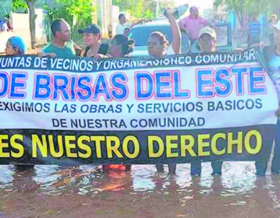 Comunitarios protestaron para exigir solución a los problemas