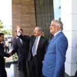 Llegada del presidente Danilo Medina a la Cancillería.
