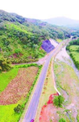 El primer tramo de la carretera
