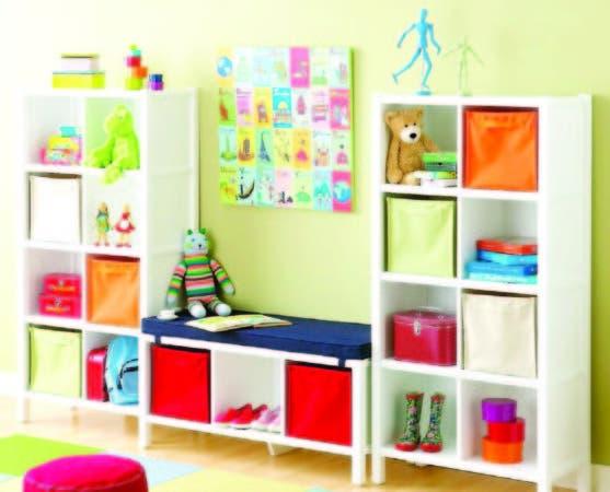 Este mueble, además de juguetes, para los que tiene espacios cerrados, sirve para organizar otras cosas