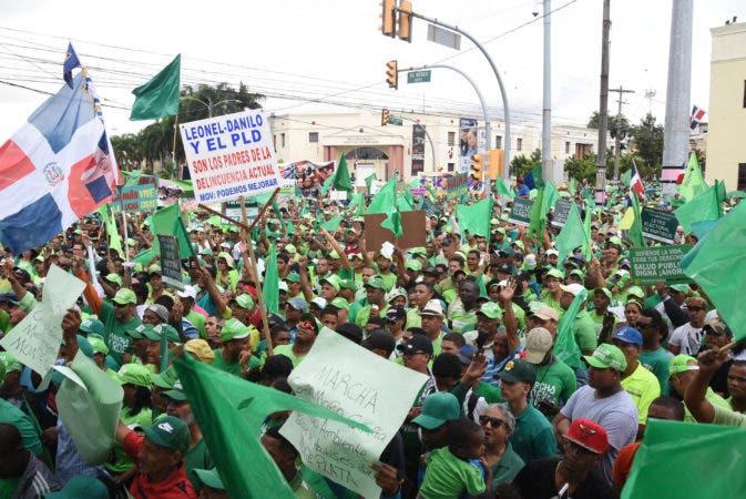 País / Marcha Verde frente al Palacio Presidencial. 28-01-18. Fotos: Adolfo Woodley Valdez.
