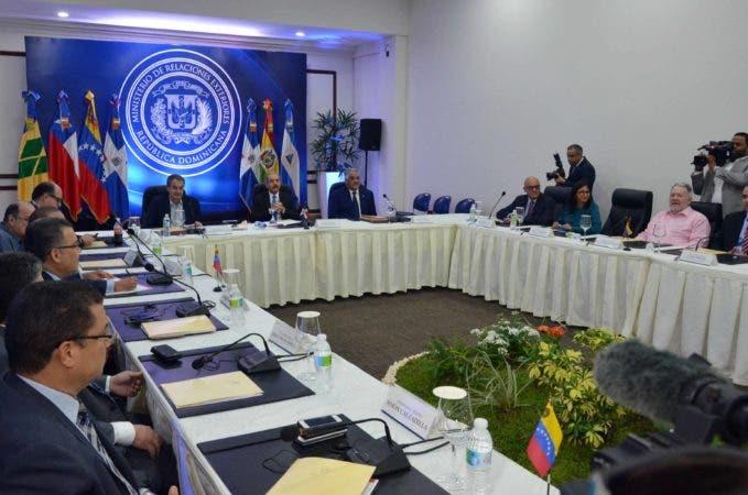 El Diálogo entre Oposición venezolana Durante el que no llegaron a ningún acuerdo. Archivo.
