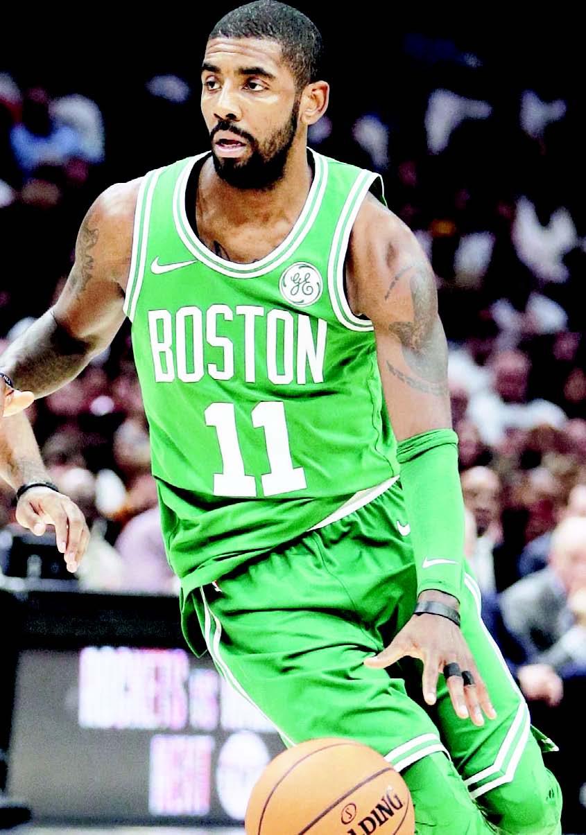 Kyrie Irving marcó anoche 40 puntos en el revés de Boston ante Orlando.