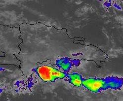 La mañana del viernes las lluvias se concentran en el litoral sur del País.Lluvias de moderada a fuerte intensidad hacia el suroeste, publicó hoy la directora de Onamet, Gloria Ceballo.