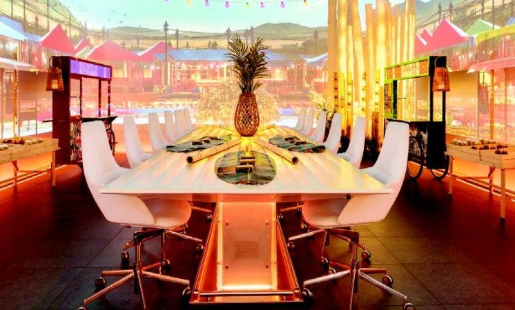La sala se puede convertir en diferentes ambientes en función de la preparación de los platos