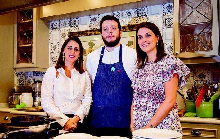 Marta Betances, el chef Alberto Jiménez y Patricia Lora