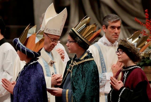 Papa Francisco en su primera misa del 2018