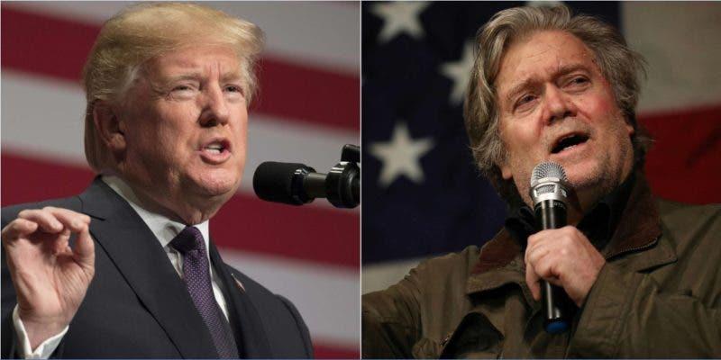 Donald Trump y Steve Bannon/AP