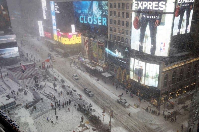 Times Square  en Nueva York. (AP Foto/Mary Altaffer)