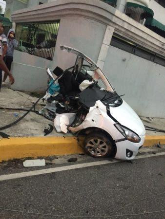 Un muerto en accidente de tránsito en la Núñez de Cáceres