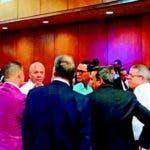 Así, en tertulia, se mantuvieron ayer los encartados en el caso Odebrecht durante los recesos audiencia