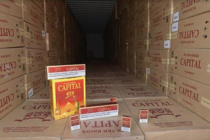 Aduanas decomisa otros 9 millones de unidades de cigarrillos en Puerto de Haina