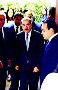 Danilo Medina al salir junto a