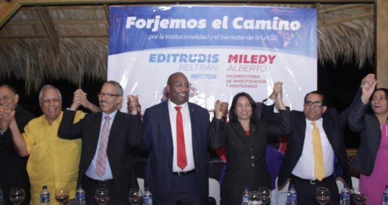Candidatos a vicerrectores anuncian respaldo Editrudis Beltrán a rectoría UASD