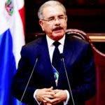 El presidente Danilo Medina, ante la Asamblea Nacional en su discurso de rendición de cuentas.