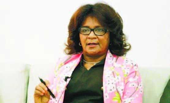 La presidenta de la Asonaen, Francisca Peguero