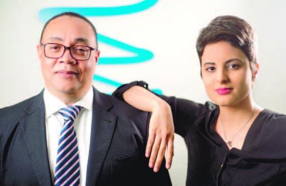 Víctor Bautista y Yinett Santelises, ejecutivos de la plataforma