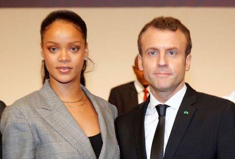 Macron y Rihanna lideran una conferencia para financiar la educación