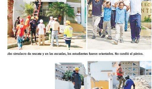 COE realiza simulacro emergencia sísmica para evitar tragedias