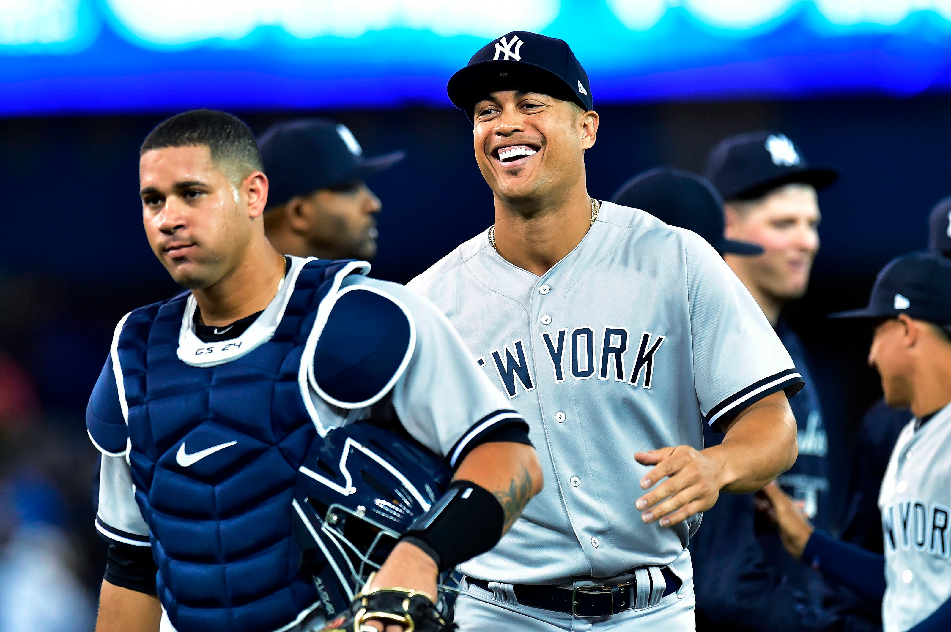 Yankees celebran en debut soñado de Giancarlo Stanton