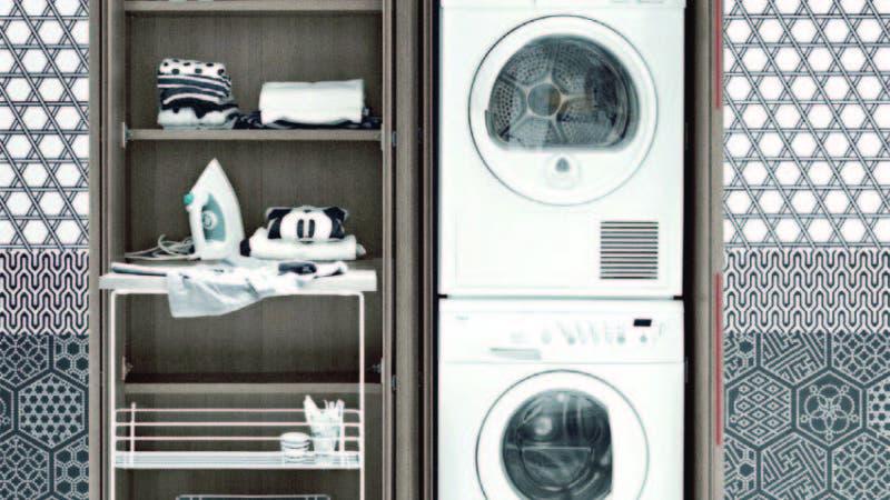 Con este tipo de muebles puede organizar la cocina y el área de lavado con éxito