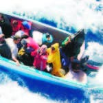El grupo iba en dos embarcaciones