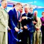 El presidente Danilo Medina, ejecutivos y empresarios en el acto