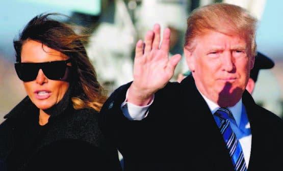 El presidente Donald Trump y la primera dama Melania.